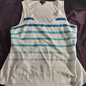 The Limited Gradient Blue Stripe Tank Top